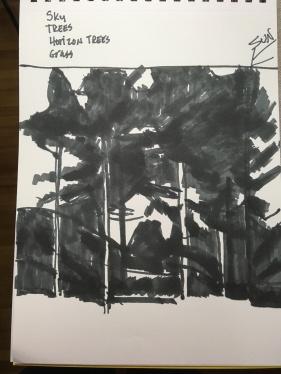 Notan Wisc Trees